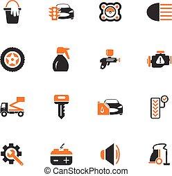 Car shop icons set - Car shop icon set for web sites and...