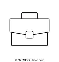 Portfolio linear icon on white background