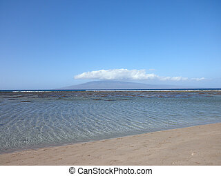 Ripple in the water on a calm beach on Maui