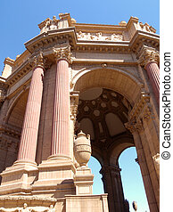 The Palace of Fine Arts - Close up of The Palace of Fine...