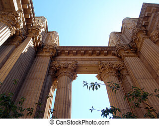 Columns of the Palace of Fine Arts making enterance way - A...