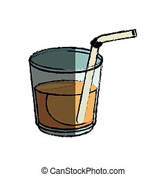 orange juice icon over white background. vector illustration