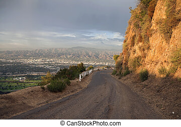 Mulholland Hwy - Famous Mulholland Hwy with thunder clouds...