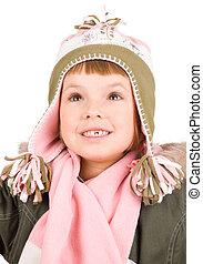criança, Inverno, roupas