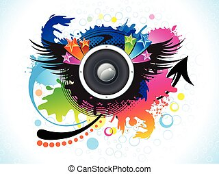 abstract artistic colorful music background