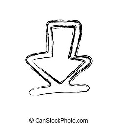 figure arrow sign icon
