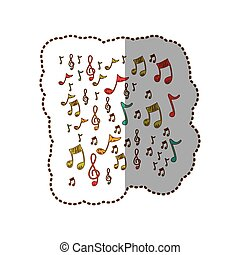 instruments music notes background icon