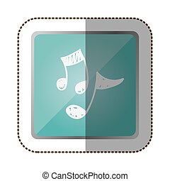 symbol music sign icon, vector illustration design