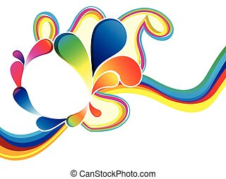 abstract rainbow wave explode