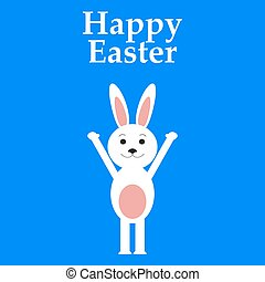 Funny easter rabbit
