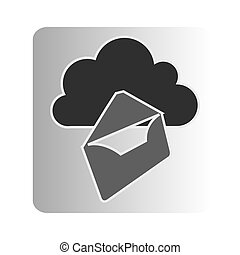 cloud letter network icon