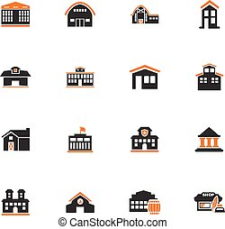 Infrastucture of the city icons set - Infrastucture of the...