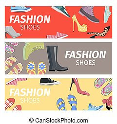 Fashion Shoes Advertising Poster illustration
