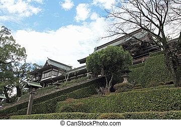 gate of Suwa shrine in Nagasaki, Japan