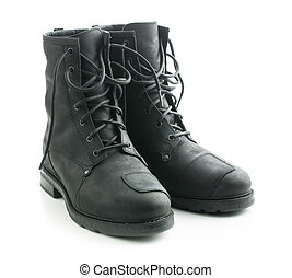Motorcycle leather boots.