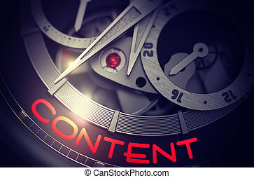 Content on Automatic Wrist Watch Mechanism. 3D. - Content on...