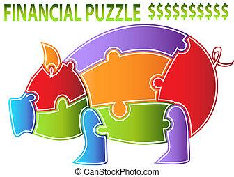 Piggy Bank Puzzle - An image of a piggy bank puzzle.