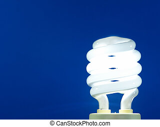 light bul - a blue energy efficient light bulb