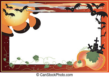 Helloween bacground -frame - Helloween bacground with...