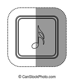 figure symbol music sign icon, vector illustration design