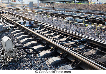 Close up of the railway track