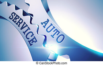 Auto Service - Text on the Mechanism of Metallic Cog Gears....