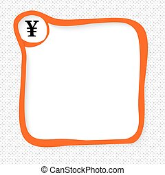 Red frame for your text and yen symbol