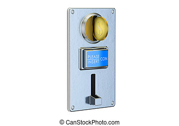 Coin Acceptor, 3D rendering