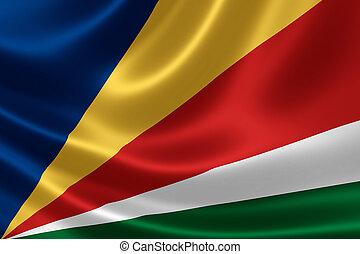Flag of Seychelles - 3D rendering of the flag of Seychelles...