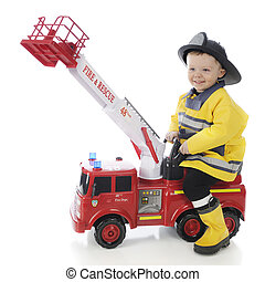 Happy Playing Fireman