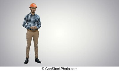 Construction worker enlisting factors for success on his...
