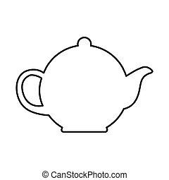 teapot kitchen utensil icon vector illustration design