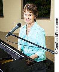 mûrir, piano, joueur