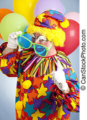 Hip Hop Clown - Funny hip hop clown with oversized shades...