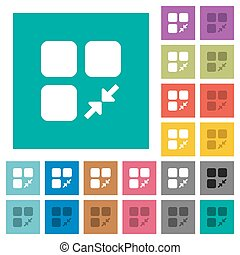 Reduce component square flat multi colored icons - Reduce...