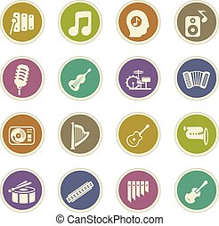Music icons set - Music icon set for web sites and user...