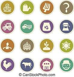 Agriculture and farming icons set - Agriculture and farming...