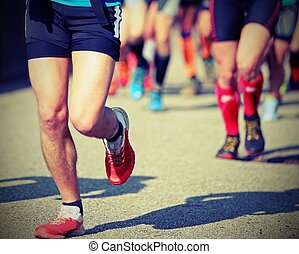 foot race with runners committed to win