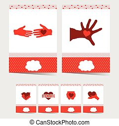 poster of donate with symbol on it illustration in red color