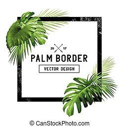 Tropical Palm Leaf Border Design - A border frame design...
