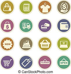 Shop icons set - Shop icon set for web sites and user...