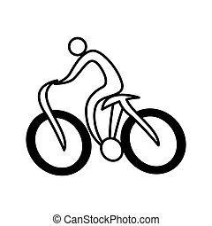 cycling sport silhouette icon