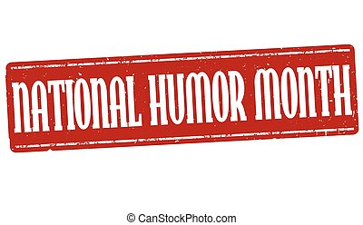 National humor month sign or stamp