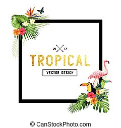 Tropical Border Design