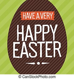 Happy Easter Everyone. Easter Egg Vector Illustration.
