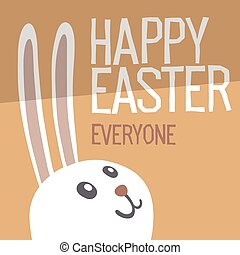 Happy Easter Everyone. Easter Bunny Ears Vector Illustration.