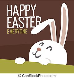 Happy Easter Everyone. Easter Bunny. Vector Illustration.