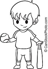 Character of kid sport collection