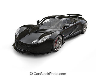 Awesome black supercar - studio shot