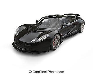 Awesome black supercar - studio shot